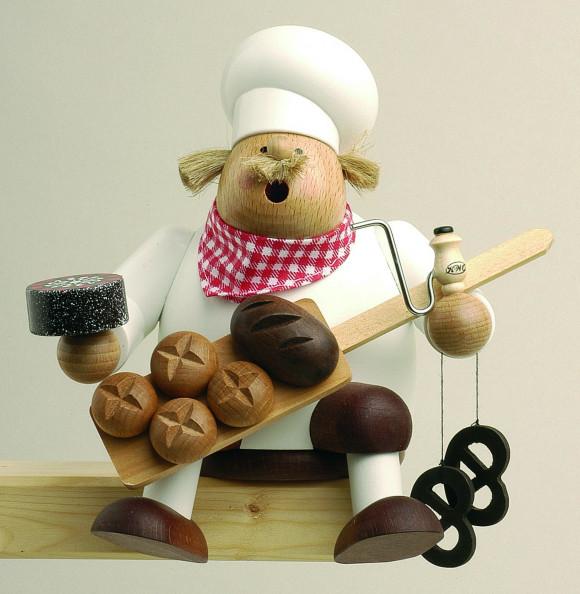 Räuchermännchen Kantenhocker Bäcker