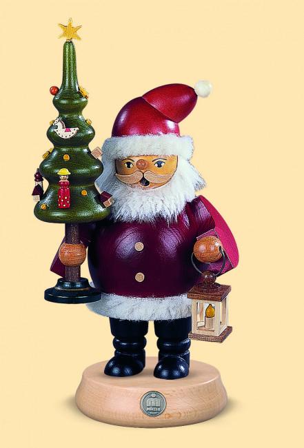 Müller Räuchermännchen Weihnachtsmann mit Baum