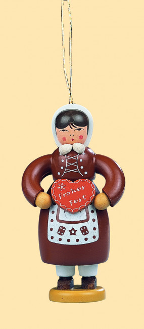 Baumbehang Pfefferkuchenfrau, farbig