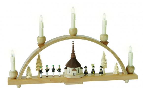 Schwibbogen mit Motiv Seiffener Kirche
