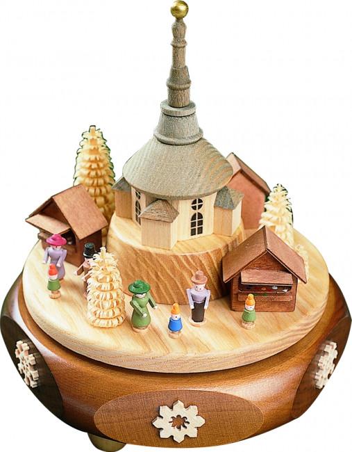 Spieldose mit Seiffener Weihnachtsmarkt