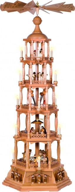 Pyramide Christi Geburt, 5-stöckig, elektrisch