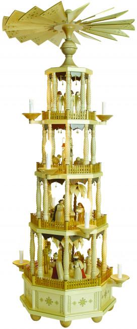 Pyramide mit gedrechselten Säulen, elektrisch