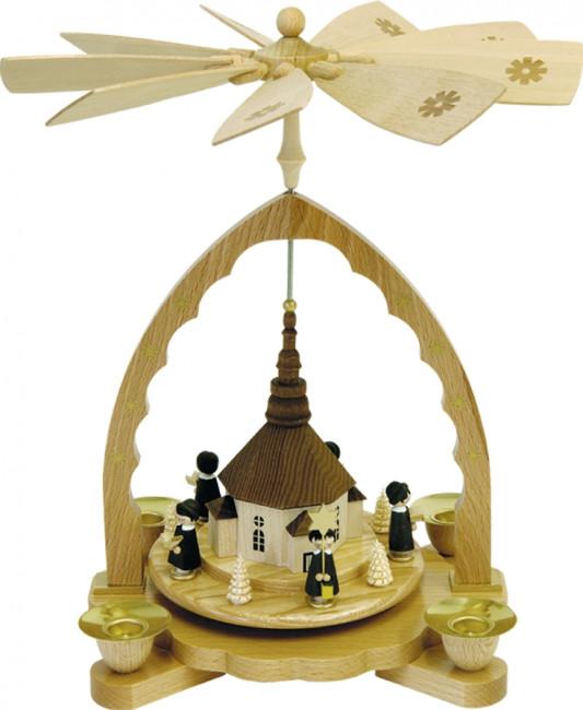 pyramide seiffener kirche mit kurrende tischpyramiden. Black Bedroom Furniture Sets. Home Design Ideas