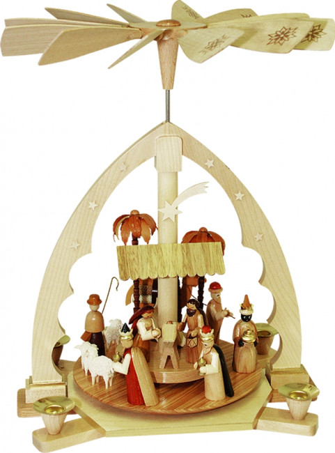 Pyramide mit Motiv Christi Geburt