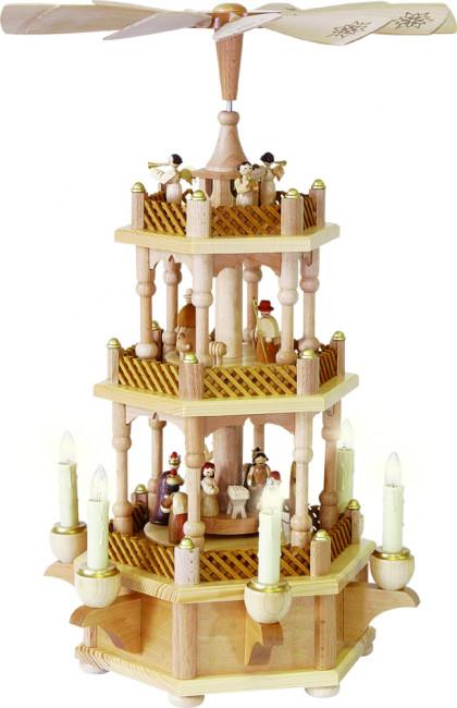 Pyramide Christi Geburt 2-stöckig, elektrisch