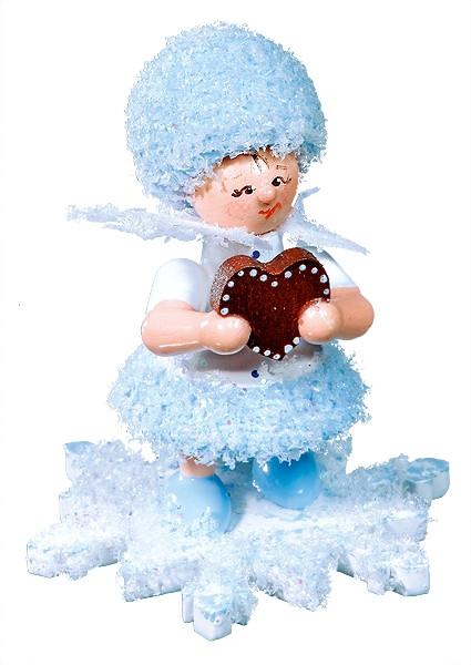 Schneeflöckchen mit Lebkuchenherz