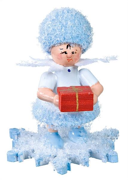 Schneeflöckchen mit Geschenkpäckchen