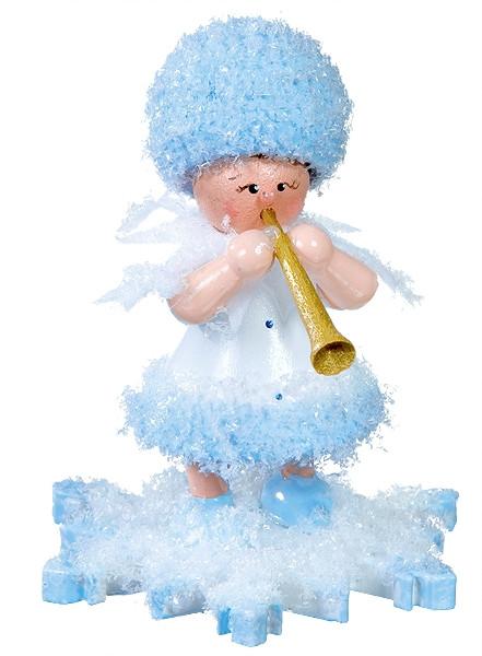 Schneeflöckchen mit Trompete