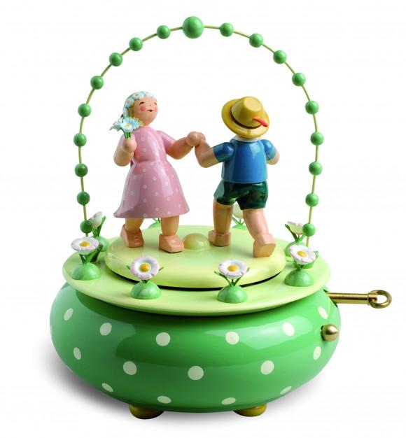Spieldose Zwei Tänzer im Bogen