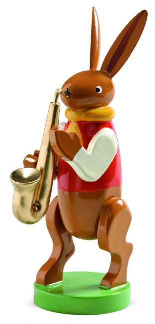 Hase mit Saxophon