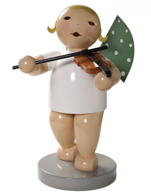 Engel gross mit Geige, 60 cm, blondes Haar