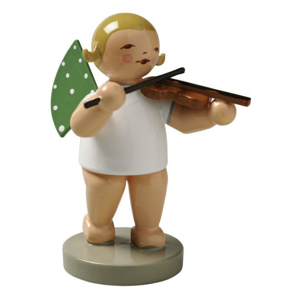 Engel mit Geige, braunes Haar
