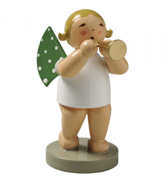 Engel mit Flöte, blondes Haar