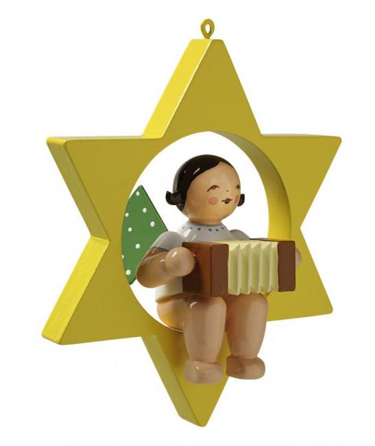 Engel mit Harmonika im Stern