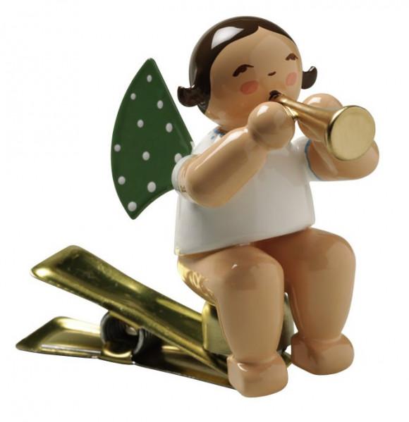 Engel mit Flöte auf Klemme