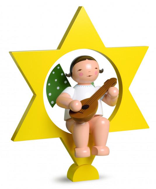 Engel mit Mandoline im Stern, gross