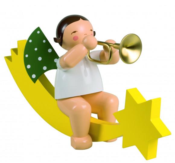 Engel mit Trompete auf Schweif, gross