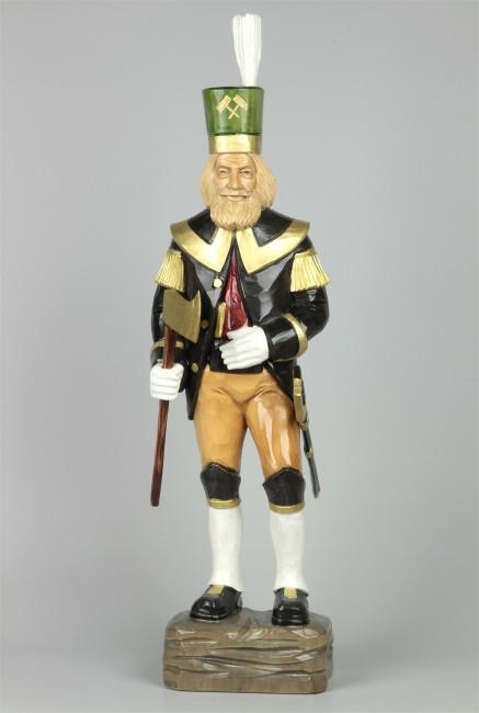 Geschnitzter Bergmann, farbig, 60 cm