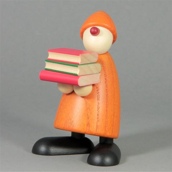 Gratulant Billy mit Büchern, gelb
