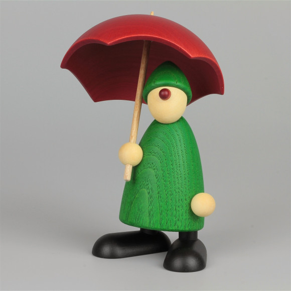 Gratulant Charlie mit Schirm, grün