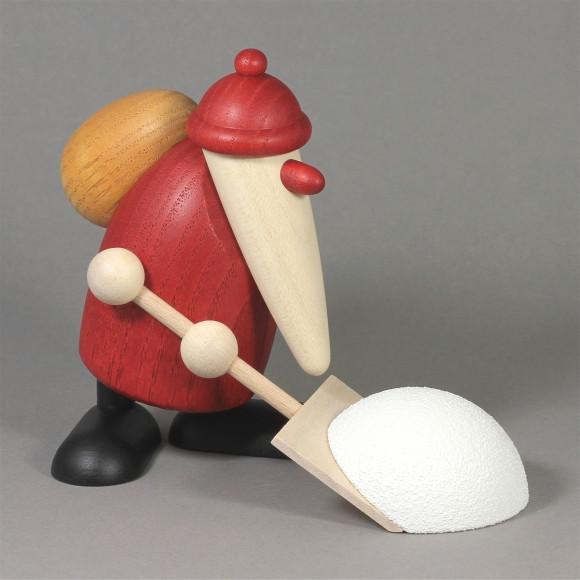 Weihnachtsmann mit Schneeschieber