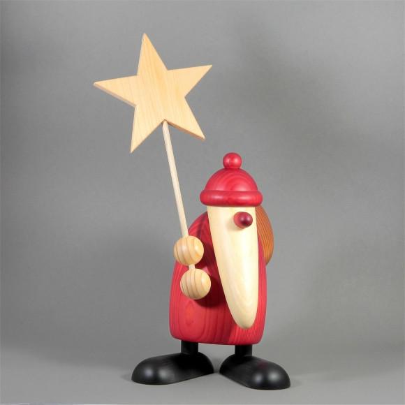 Weihnachtsmann mit Stern, groß