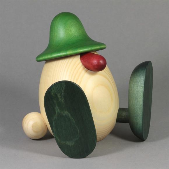 Eierkopf Erwin sitzend, grün