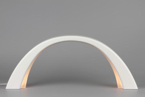 LED Lichterbogen Schwibbogen mit Innenbeleuchtung, weiß