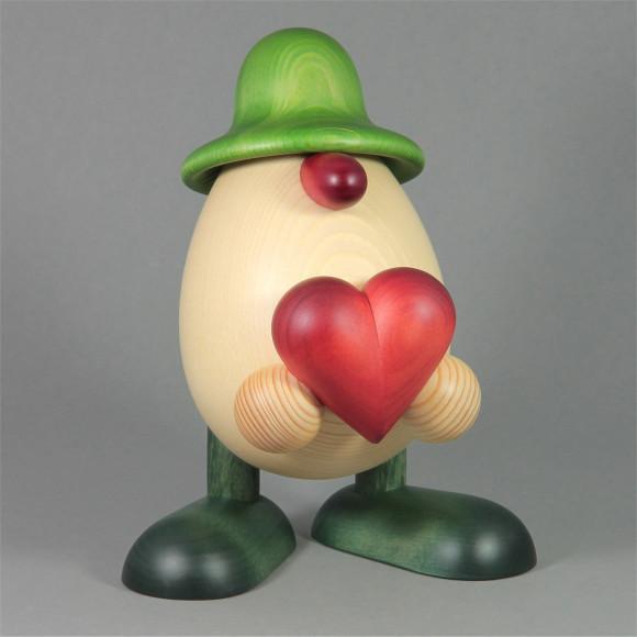 Eierkopf Vater Hanno mit Herz, groß, grün