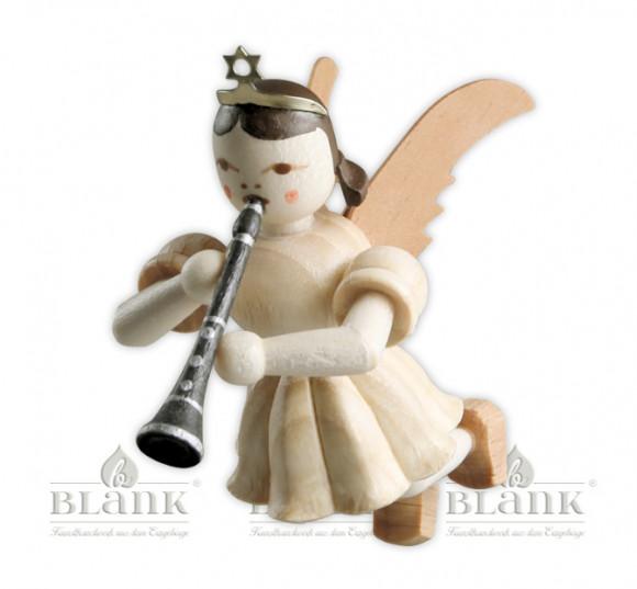 Engel schwebend mit Klarinette