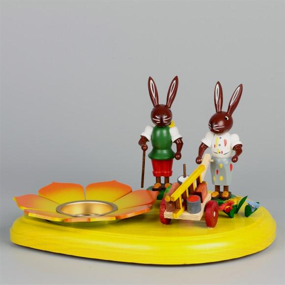 Teelichthalter Osterhasenmalerpaar