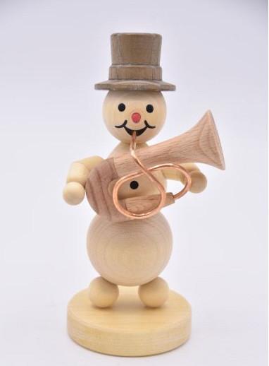 Schneemannmusikant mit Basstrompete