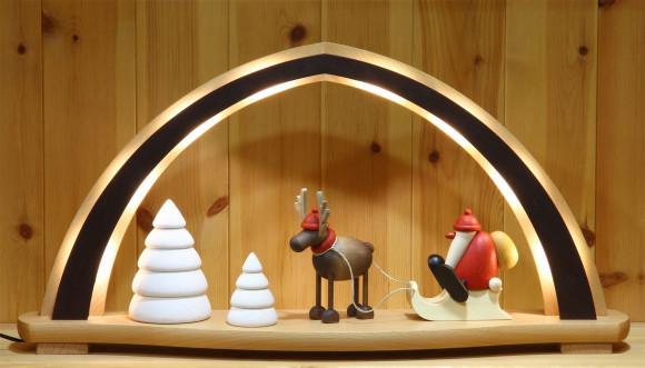 LED-Schwibbogen Björn Köhler Weihnachtsmotiv