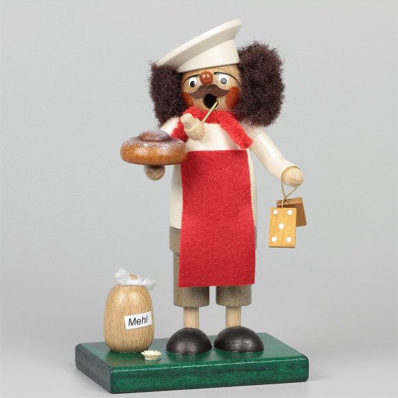 Räuchermann Bäcker mit Mehlsack