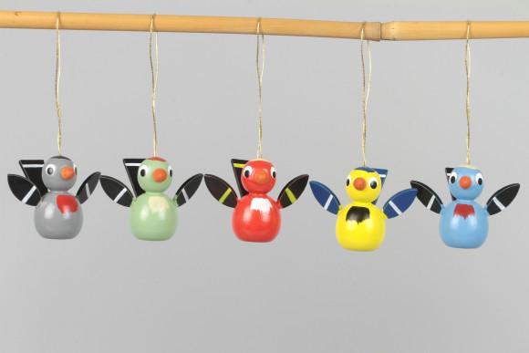Baumbehang Vögel, 5-teilig