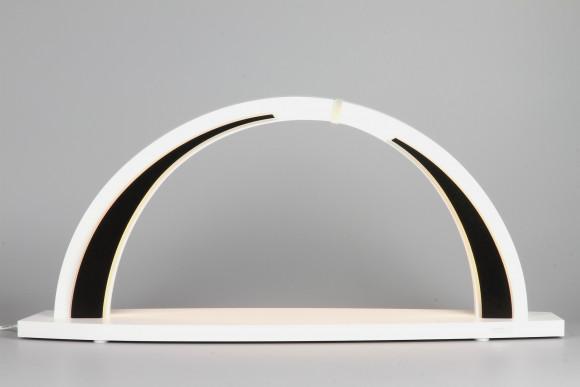 LED-Schwibbogen weiß schwarz zum selbst Bestücken, groß