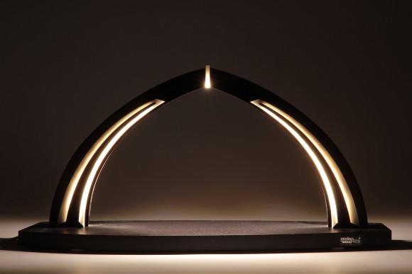 LED-Schwibbogen schwarz weiß zum selbst Bestücken, klein