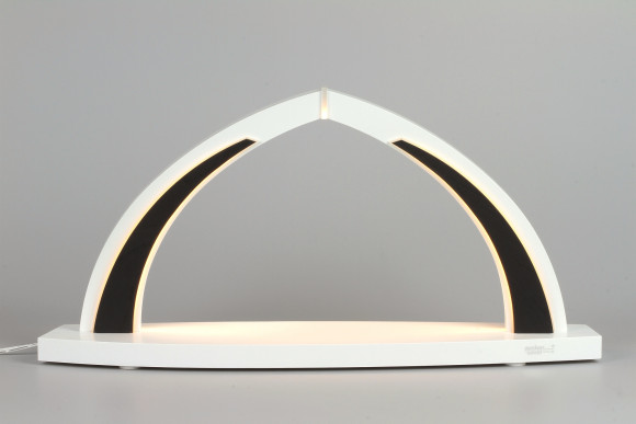 LED-Schwibbogen weiß schwarz zum selbst Bestücken, klein