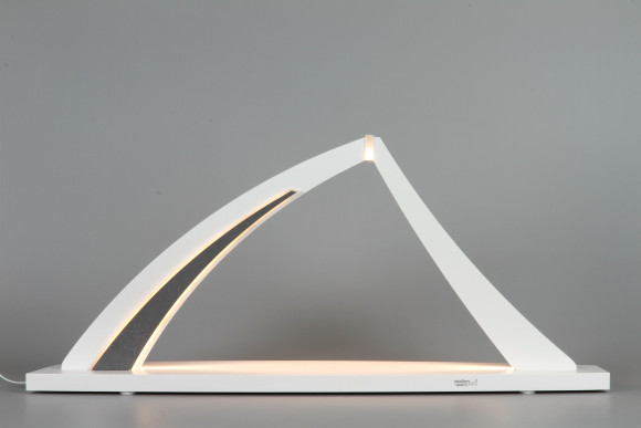 LED-Schwibbogen zum selbst Bestücken, weiß, groß