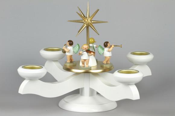 Adventsleuchter mit Wendt & Kühn Engeln für Stumpenkerzen
