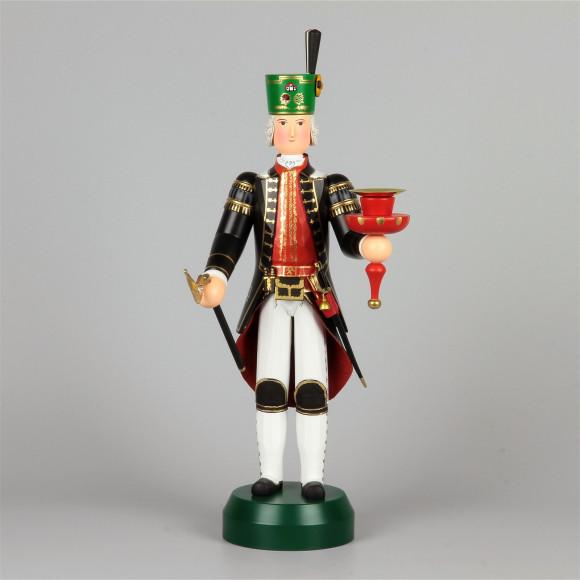 Bergmann General Berg Commissarius mit Kerzenhalter