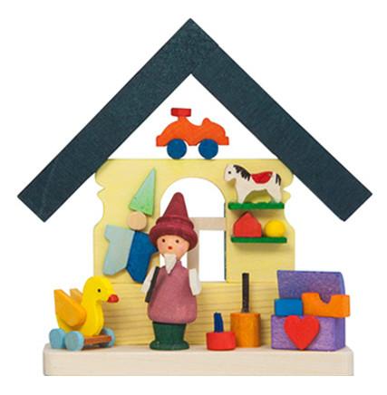 Baumbehang Buntes Haus mit Zwerg und Spielzeug