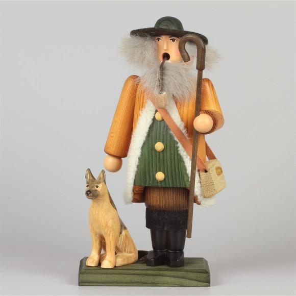 Räuchermann Schäfer mit Hund