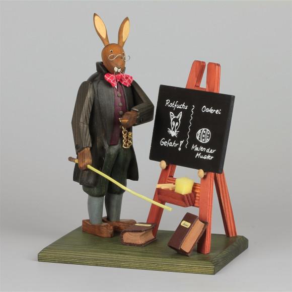 Hasenschule Osterhasenlehrer mit Tafel