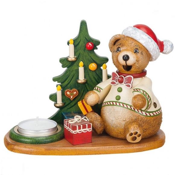 Räucherteddy Teddy´s Weihnachtsgeschenke mit Teelicht
