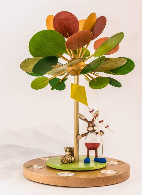 Teelichtpyramide Jahreszeitenbaum Herbstzeitlose, unbestückt