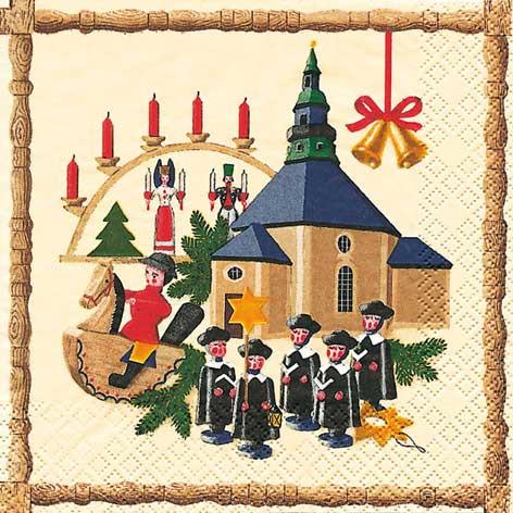 Tischservietten Seiffener Weihnachtsland