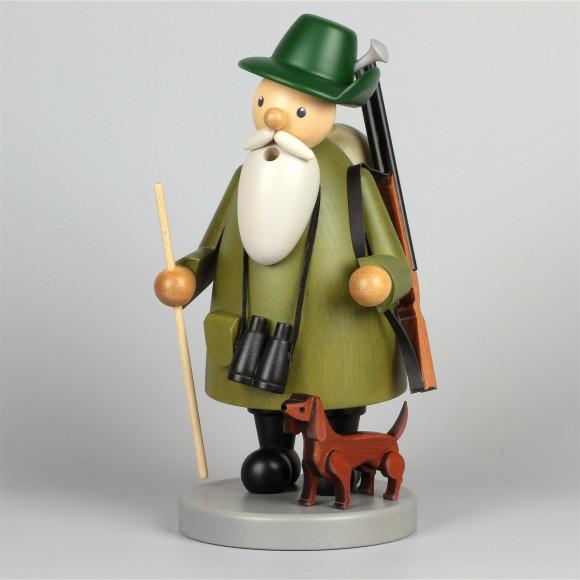 Räuchermann Förster mit Dackel, gebeizt