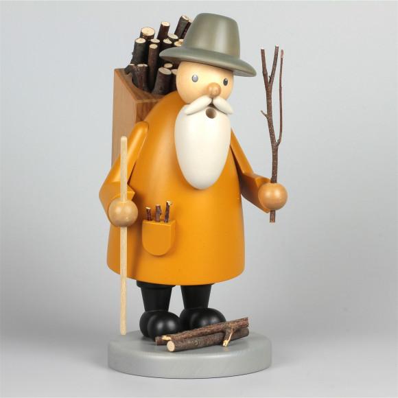 Räuchermann Holzsammler, gebeizt